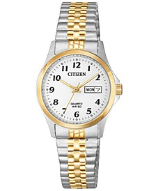 Women's Quartz Two-Tone Stainless Steel Bracelet Watch 26mm