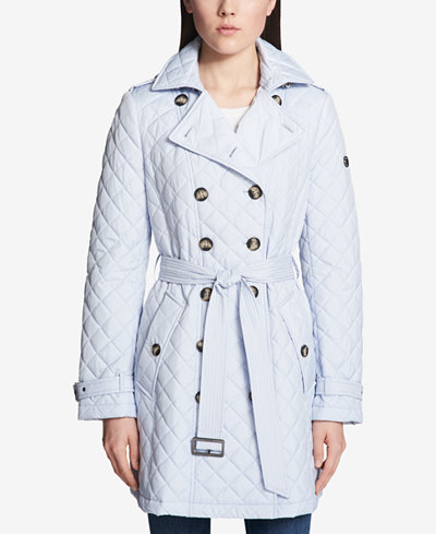 Calvin Klein Quilted Double-Breasted Trench Coat