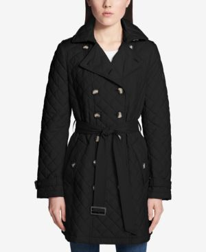 QUILTED DOUBLE-BREASTED TRENCH COAT