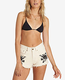 Billabong Juniors' Cotton Embroidered Denim Shorts