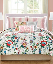 Coral Floral 3-Pc. Full/Queen Comforter Set