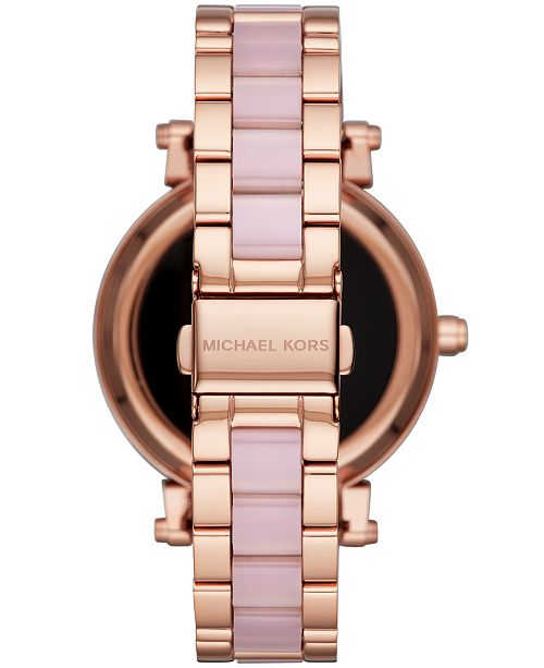 Michael Kors Access Women S Sofie Rose Gold Tone Stainless Steel