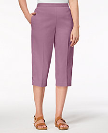 Alfred Dunner Petite Los Cabos Eyelet-Cuff Capri Pants