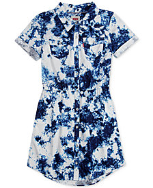 Levi's® Cotton Denim Western Dress, Big Girls