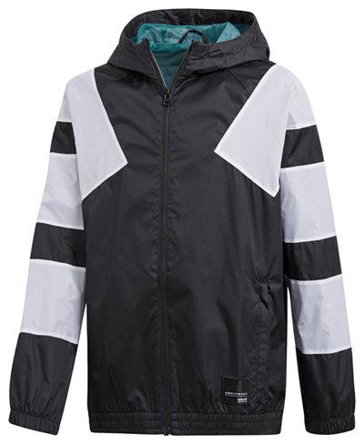 adidas Originals Hooded Windbreaker Jacket, Big Boys