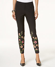 Alfani Floral-Print Skinny Pants, Created for Macy's