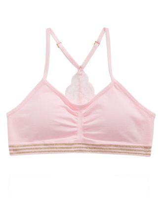 2-Pc. Lace-Back Bra & Underwear Set, Little & Big Girls