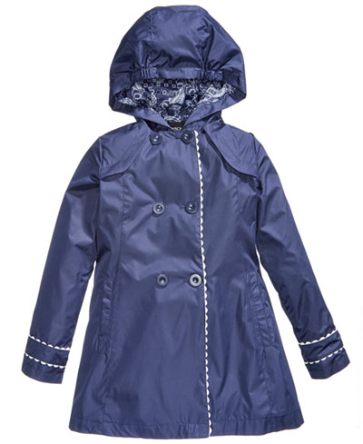 S Rothschild Hooded Trench Coat, Big Girls