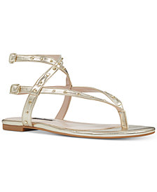Nine West Simcha Studded Flat Sandals