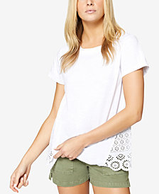 Sanctuary Ulla Short-Sleeve Eyelet T-Shirt