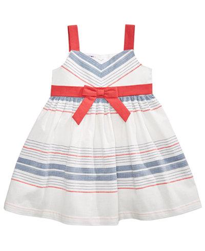 Blueberi Boulevard Striped Sundress, Baby Girls