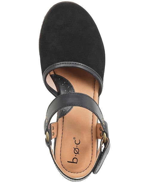 b491a2f9ae98 b.o.c. Rina Wooden Slingback Clogs   Reviews - Sandals   Flip Flops ...