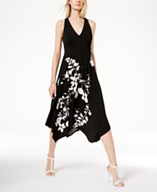 I.N.C. Floral Cutout-Back Dress, Created for Macy's