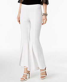 I.N.C. Petite Tulip-Hem Flare Pants, Created for Macy's