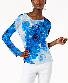 I.N.C. Scoop-Neck Dolman-Sleeve Top, Created for Macy's
