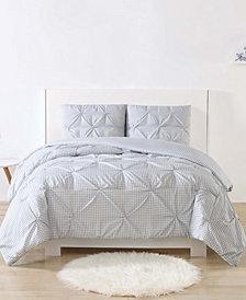 Laura Hart Kids Printed Gingham Pinch Pleat Bedding Sets