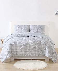 My World Printed Gingham Pinch Pleat Bedding Sets