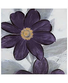 "Madison Park 'Midnight Bloom Plum' 30"" x 30"" Hand-Embellished Canvas Print"