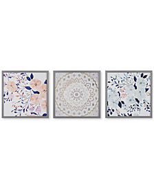Intelligent Design 'Summer Bliss' Gel-Coated Decorative Boxed Wall Art, Set of 3