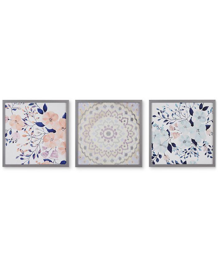 JLA Home - Intelligent Design 'Summer Bliss' Gel-Coated Decorative Boxed Wall Art, Set of 3