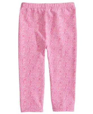 Baby Girls Graphic-Print Leggings, Created for Macy's