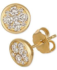Le Vian Strawberry & Nude™ Diamond Cluster Stud Earrings (1/2 ct. t.w.) in 14k Gold