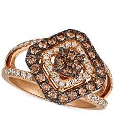 Le Vian Strawberry & Nude™ Diamond Statement Ring (1 ct. t.w.) in 14k Rose Gold