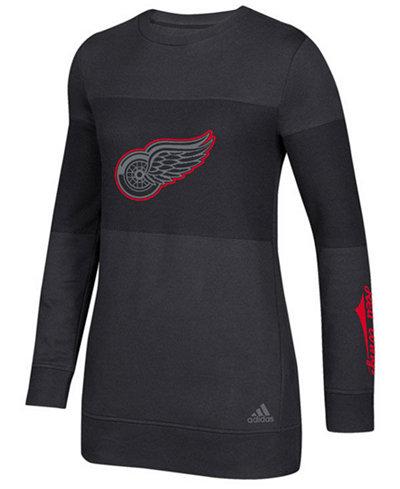 adidas Women's Detroit Red Wings Inside Logo Outline Sweatshirt