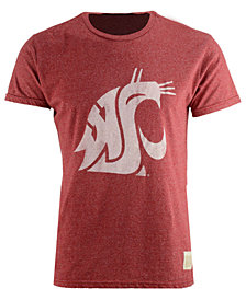 Retro Brand Men's Washington State Cougars Retro Mock Twist Team Logo T-Shirt
