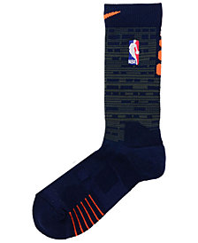 Nike Men's New York Knicks Elite Quick Crew Socks
