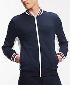 Tommy Hilfiger Men's Hunter Embroidered-Logo Full-Zip Jacket