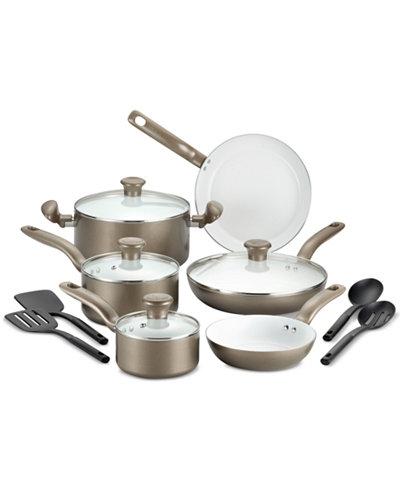 T-fal Initiatives 14-Pc. Cookware Set