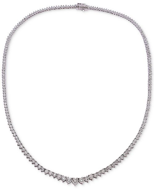 Macy's Diamond Necklace (3 ct. t.w.) in 14k White Gold or 14k Yellow Gold
