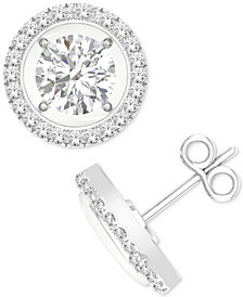MAGNIFICENCE Diamond Open Halo Stud Earrings (1/3 ct. t.w.) in 14k White Gold