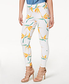 HUE® Women's  Tropical Floral Simply Stretch Skimmer Leggings