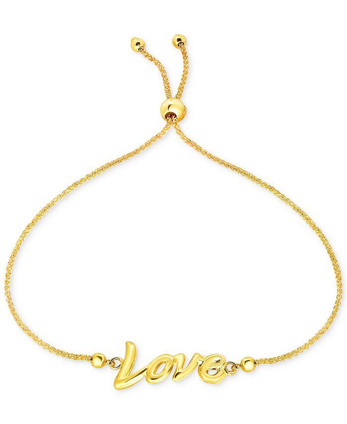Macy's - Love Script Bolo Bracelet in 10k Gold