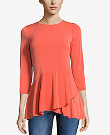 ECI Ruffled Layered-Hem Top