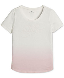 Nike Logo-Print Cotton T-Shirt, Big Girls