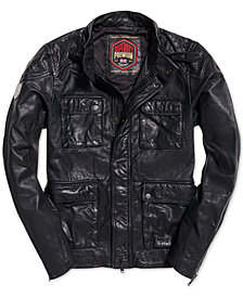 Superdry Men's Leather Rotor Jacket