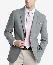Tommy Hilfiger Light Gray Neat THFlex Stretch Modern-Fit Sport Coat