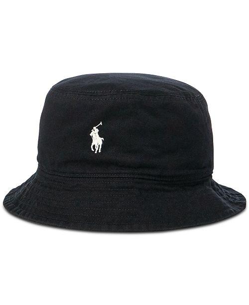 4574dc830c7 Polo Ralph Lauren Men s Reversible Twill Bucket Hat   Reviews - Hats ...