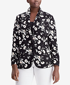 Lauren Ralph Lauren Plus Size Floral-Print Jacket