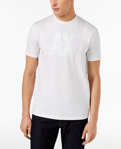 Armani Exchange Men's Block Letter Logo T-Shirt