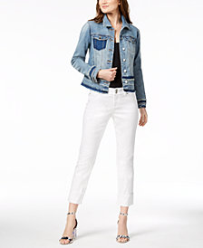 I.N.C. Denim Jacket & Cropped Jeans, Created for Macy's