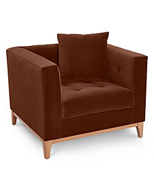 "Martha Stewart Collection Brookline 38"" Armchair - Custom Colors, Created for Macy's"