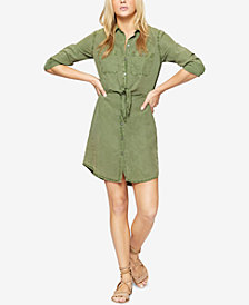 Sanctuary Tie-Front Shirtdress