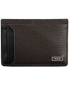 Tumi Men's Leather Money Clip Card Case
