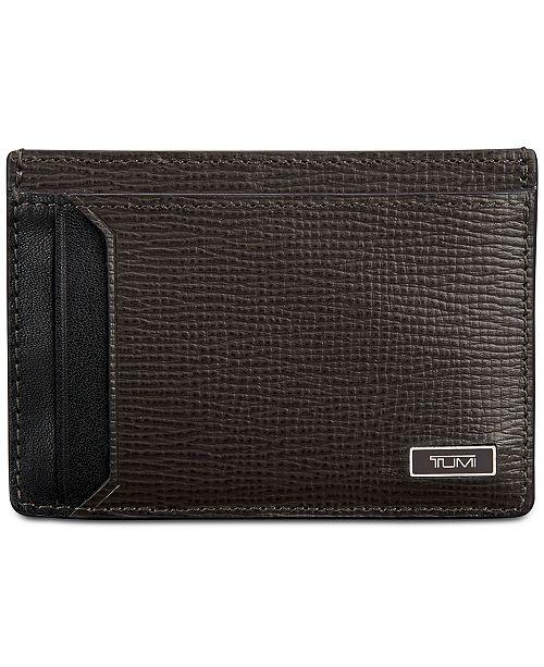 Tumi mens leather money clip card case all accessories men macys 9500 colourmoves