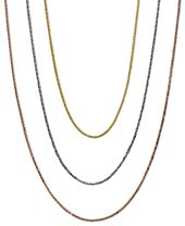 """14k Gold, 14k White Gold and 14k Rose Gold Necklaces, 16-20"""" Wheat Chain"""