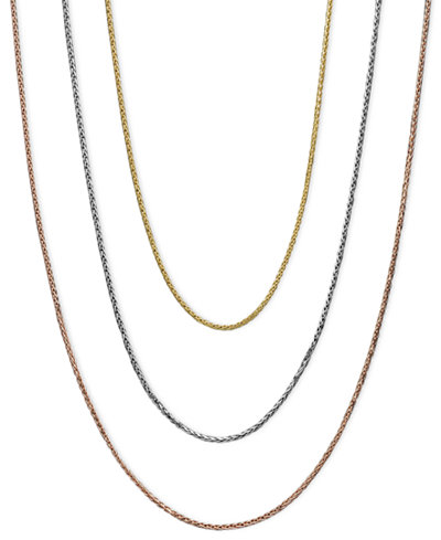 14k Gold, 14k White Gold and 14k Rose Gold Necklaces, 16-20